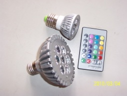 4W remote control color LED bulb