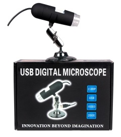 USB microscope, 200 times magnified by 200 pixels with measurement software - MIX02