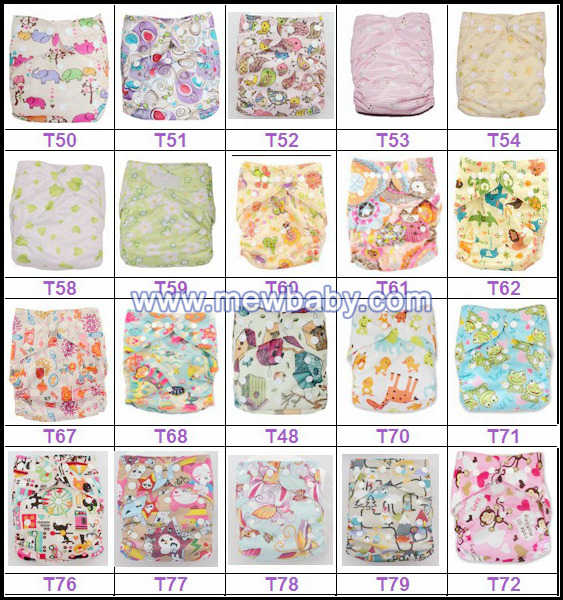 PUL Reusable Cloth Diapers Wholesale Fabric Baby Cloth Diapers Nappies