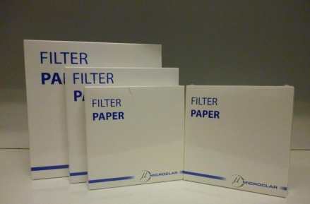 Grade 1 Qualitative Filter Paper, 18.5cm, Pore Size: 8 Micrometers x 100 - CL-501-185