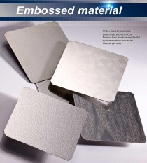 Stainless Steel--Embossed material - Stainless steel