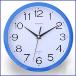 2014 colors simple round silence movt analog sweeping plastic wall clock - MT-C001