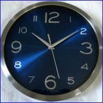 Quartz analog sweeping silent movt metal designer wall clock - MT-C002