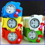 Fashion quartz analog silicone children cartoon slap watch - SL003