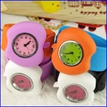 Design quartz movt analog silicone kids slap gift watch - SL003