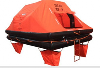 THROW-OVER BOARD LEISURE OR YACHT INFLATABLE LIFE RAFT
