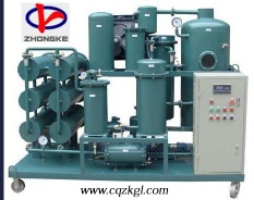 High-efficiency Vacuum ZY Series Lubricant Oil Purifier Machine - cqzkgl001