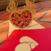 Heart - Handmade 3D greting card