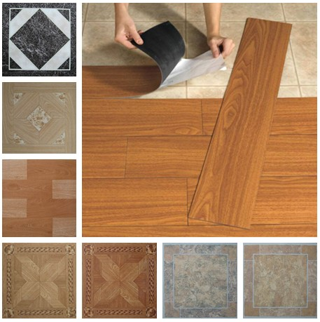 Cheap self stick floor tiles