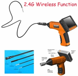 Wireless Video Borescope with Detachable Snake Tube and Screen