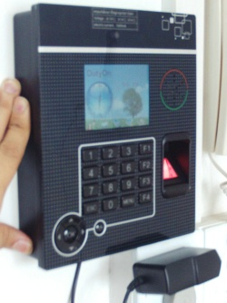 Secubio CCTV Imbedded Biometric Time attendance and access control with TCP/IP and RFID - Icolor900