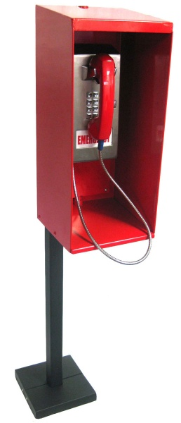 Outdoor Pillars Emergency Assistance Service Telephone