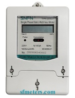 DDS227 LCD display Single Phase Electronic Meter - Meter 1