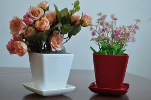 Highlight White Square High quality Decorative Plant Pots in 90*55 mm