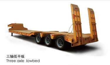 sell 3-axles Low-bed Semi-trailer Semi Trailer, used trailer - SH005