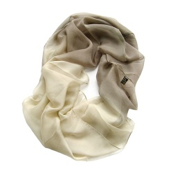 Degrade Ivory Cream Silk Scarf Loop Scarves Hand Dying For Spring And Autumn