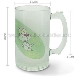 16oz Beer Glass Mug(frosted)_Sublimation Mugs Blank