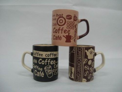 11OZ stoneware coffee mug with silk printing
