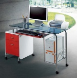 Movable Glass-Steel Computer Desk ST-F1080