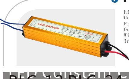 PLC-24 24W LED Constant Current/Voltage Converter with PF >0.92/>82% Efficiency - PLC-24