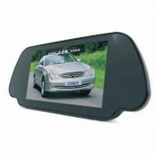 7-inch Car Rear-view LCD Monitor with Reversal Backsight and Two-way Video Input-sales@szcisbo.com - SB-T7