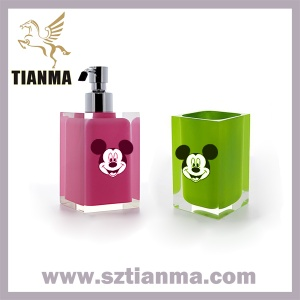 Colorful acrylic / resin hand pump lotion soap dispenser - TM006B