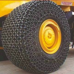 tyre protection chain for wheel loader,snow chain for tyres - 10010