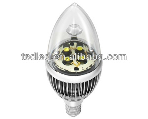 Fin Aluminum Heatsink E14 G43 4W Candle LED Bulbs - TD-FG43WW4-4