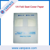 1/4 fold toilet paper/disposable paper/seat cover paper for hotel;hospital;home;travel - VP0002