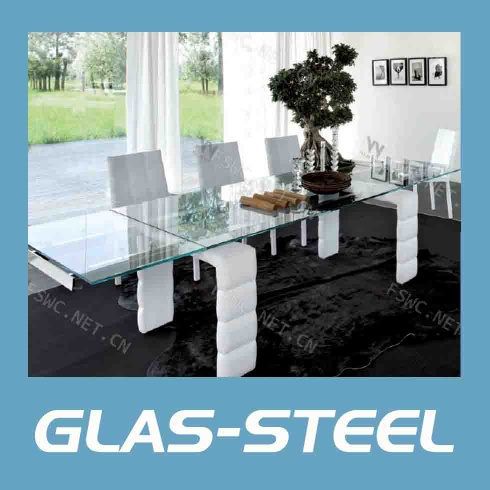 Modern square dining table,glass dining table