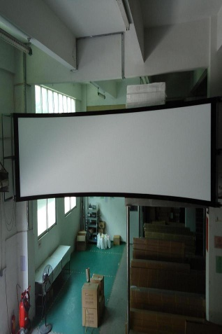 Curved Fix Frame Projector Screen for Cinema