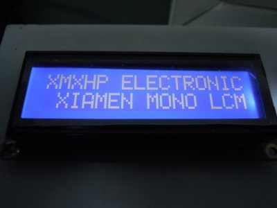 16 character X2 lines character type LCD module with negative Blue backlight