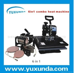 6 in 1 multifunctional combo heat press machine - YXD-6 in 1