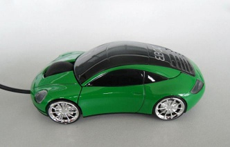 Wired porsche car shape gift computer optical mouse with USB port
