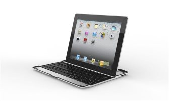 3 in 1 (Wireless Bluetooth Keyboard+Aluminum Case+iPad2 Stand) Aluminum bluetooth keyboard for iPad 2/3 - ZT-LY10