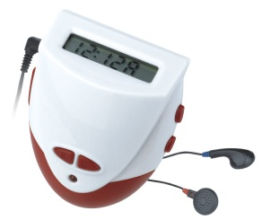 Calorie pedometer with radio