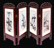 the silk handmade xiang embroidery screen