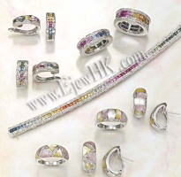 Ring & Earrings setting -- K Gold(9-18K) / Silver setting with Diamond / CZ