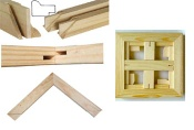 sell fir wood stretcher bar in KD packing,cheap and easy fixed for framed art - stretcher bar