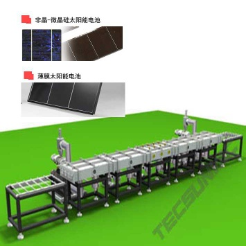 Plasma Metallizer for amorphous silicon PV solar cells - solar sputter line