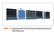 Semiautomatic Vertical Glass Washing and Roll Press Line - apgglass