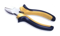 DIAGONAL CUTTING NIPPERS W/DOUBLE COLOR HANDLE, EUROPE TYPE, MIRROR POLISH CHROMED - Diagonal Nippers