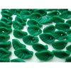Polymer clay leaf beads - fimo flower bead-2