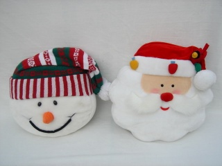 Snowman/Santa Head Pillow - QC05335,QC05336