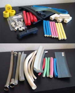 OEM Rubber Foam / Solid Extruded Parts: Auto, Industrial, Toy