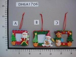 christmas photo frame with christmas dolls - DH6A1706A/B/C