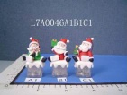 christmas santas with flashing light - L7A0046A1/B1/C1