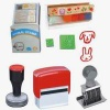rubber stamp, wooden stamp, wood stamp, self-inking stamp, date stamp, number stamp, stamp pad