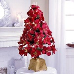 red flower christmas tree - st-f36