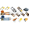 various types of slings, webbing, anchor chain - ratchet